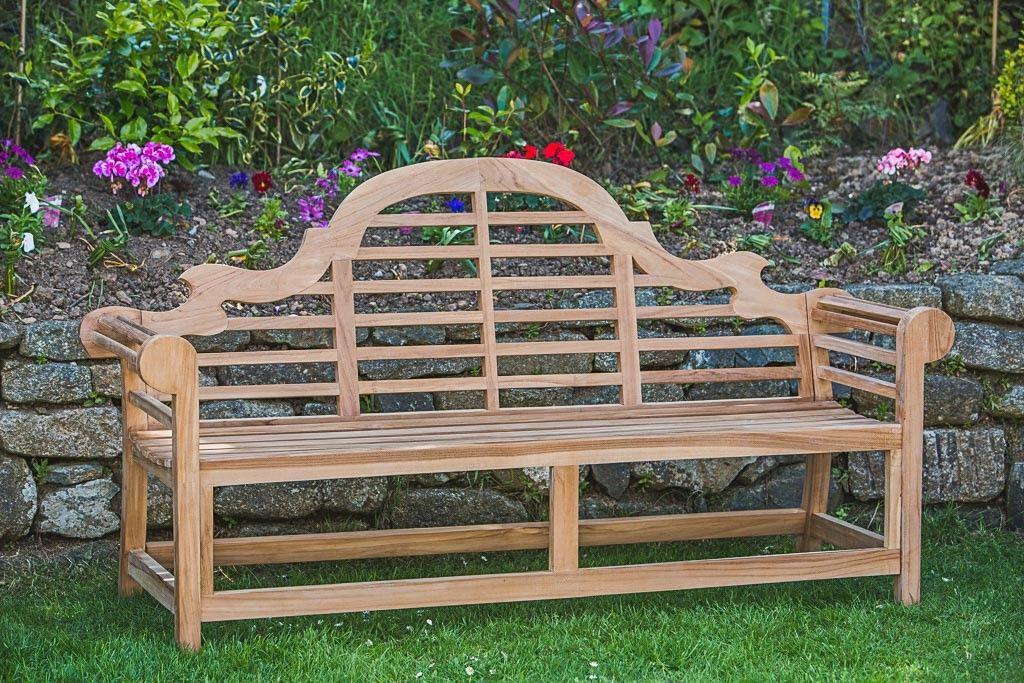 Outdoor Teak Lutyens Bench   Garden Furniture Land