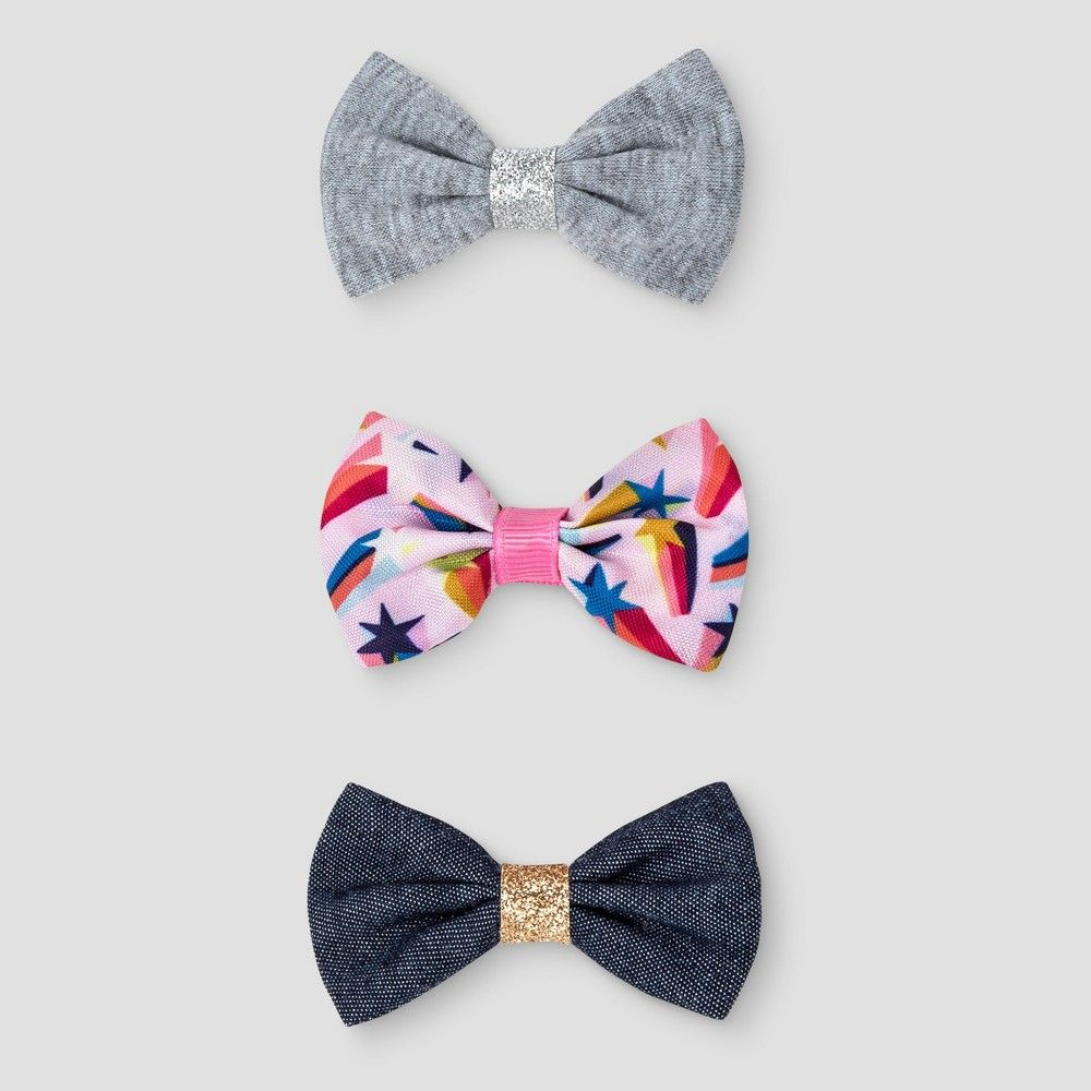 Girlsu pk bow hair clips cat u jack multicolored products