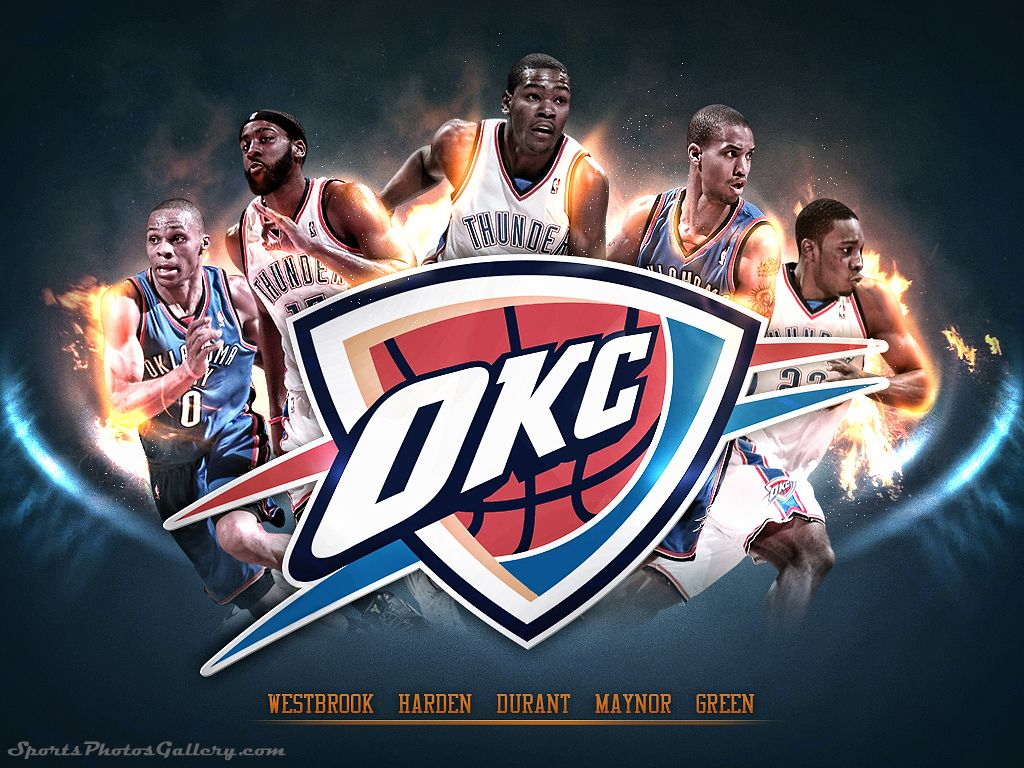 Oklahoma City Thunder Wallpaper 16 1024 X 768 Stmed Net Oklahoma City Thunder Basketball Wallpaper Sports Wallpapers