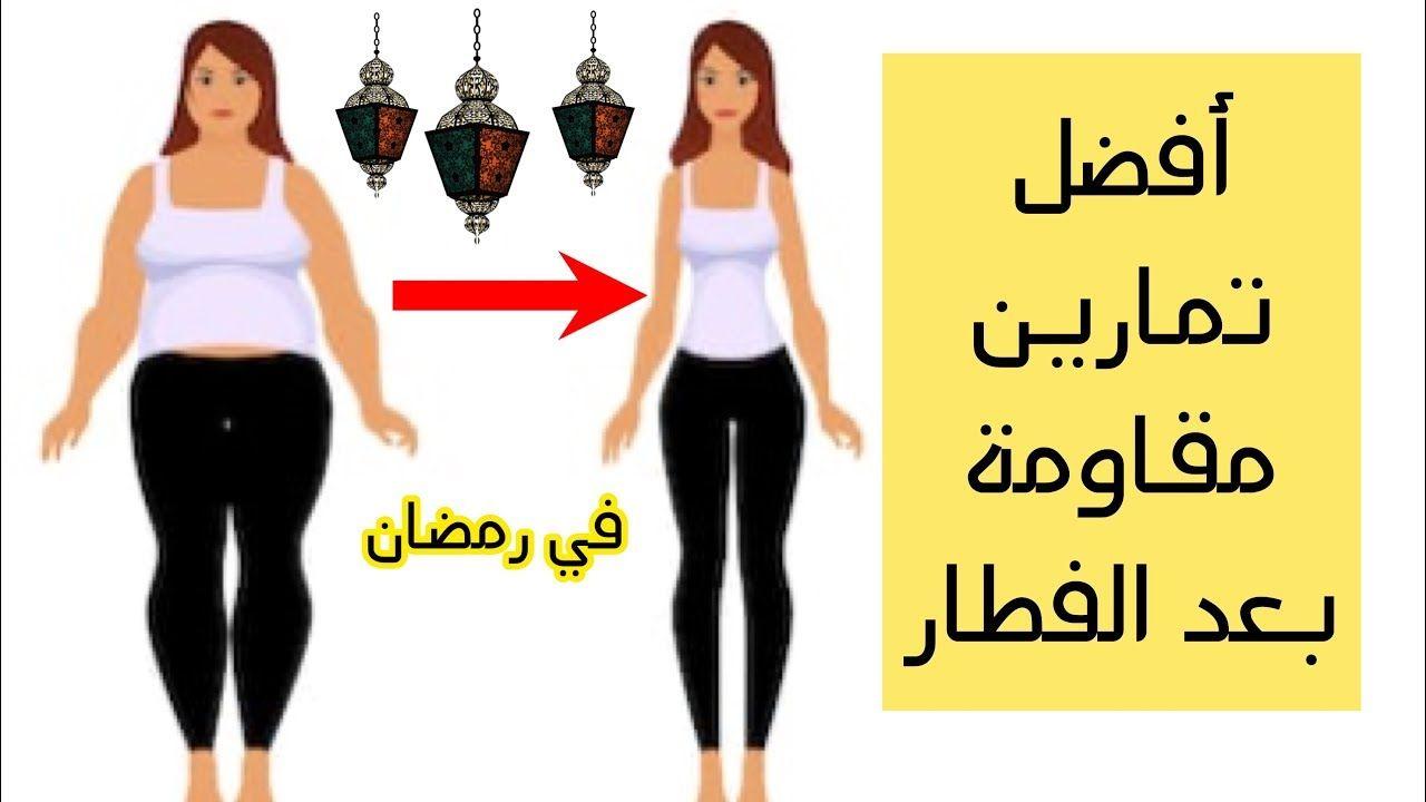 أفضل تمارين مقاومة في رمضان بعد الفطار لإنقاص الوزن بسرعة جدا Youtube Fitness Workout For Women Fit Women Workout