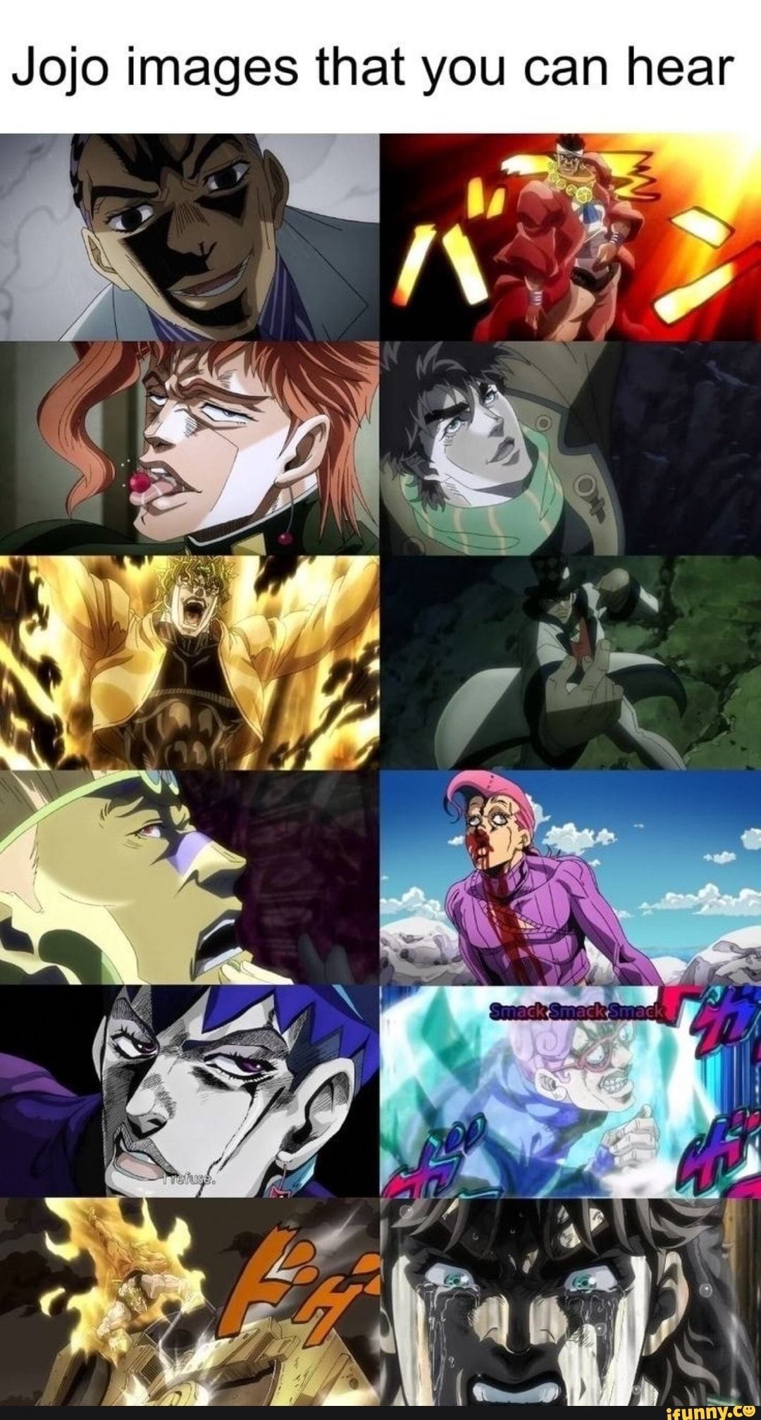 Jojo Images That You Can Hear Ifunny In 2020 Jojo Bizzare