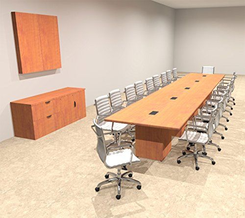 Modern Rectangular Top Cube Leg Feet Conference Table OFCON - 20 foot conference table