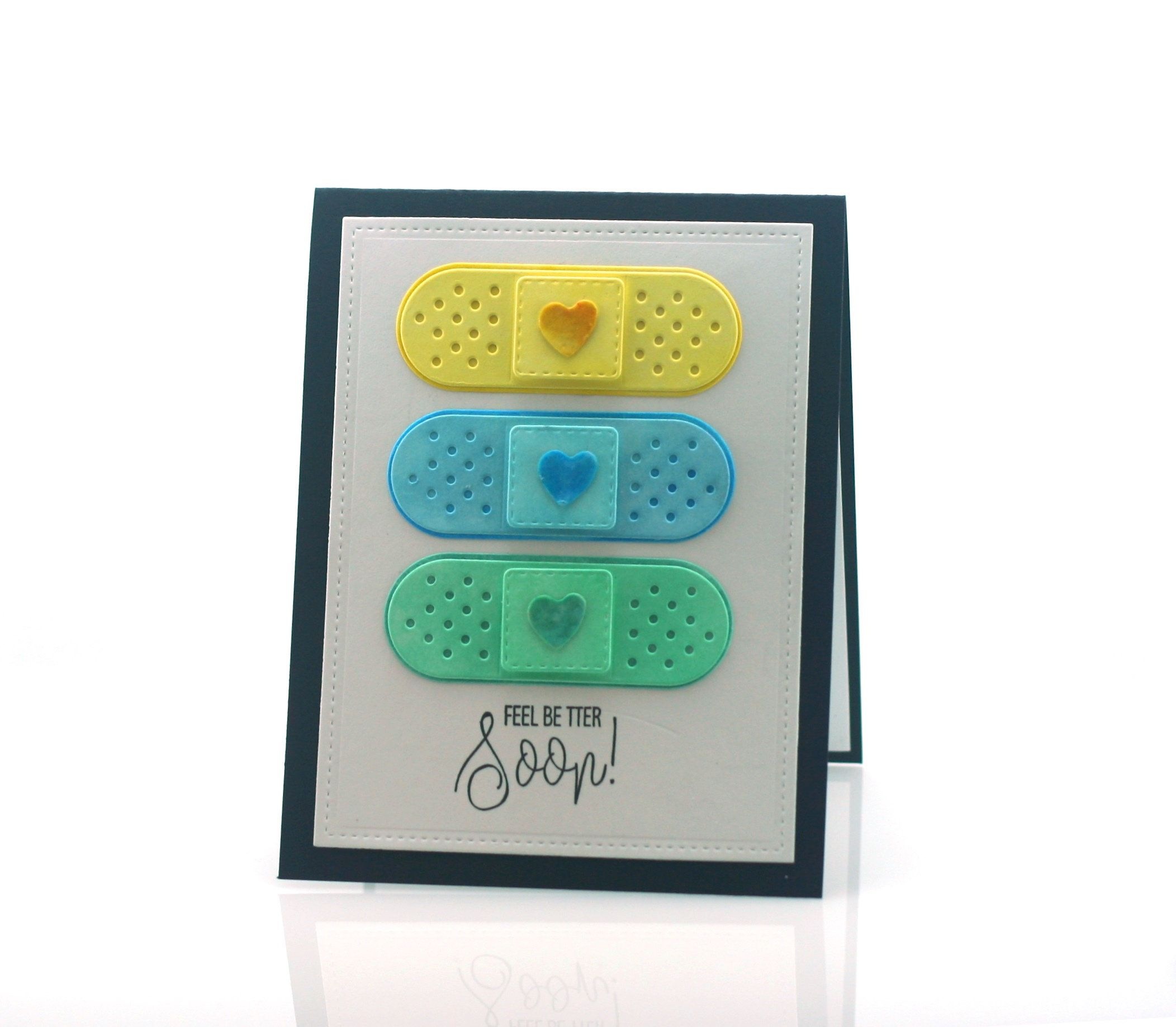 Band Aid Get Well Card Cute Unisex Fun Feel Better Soon Blank Etsy Get Well Cards Butterfly Birthday Cards Beautiful Birthday Cards