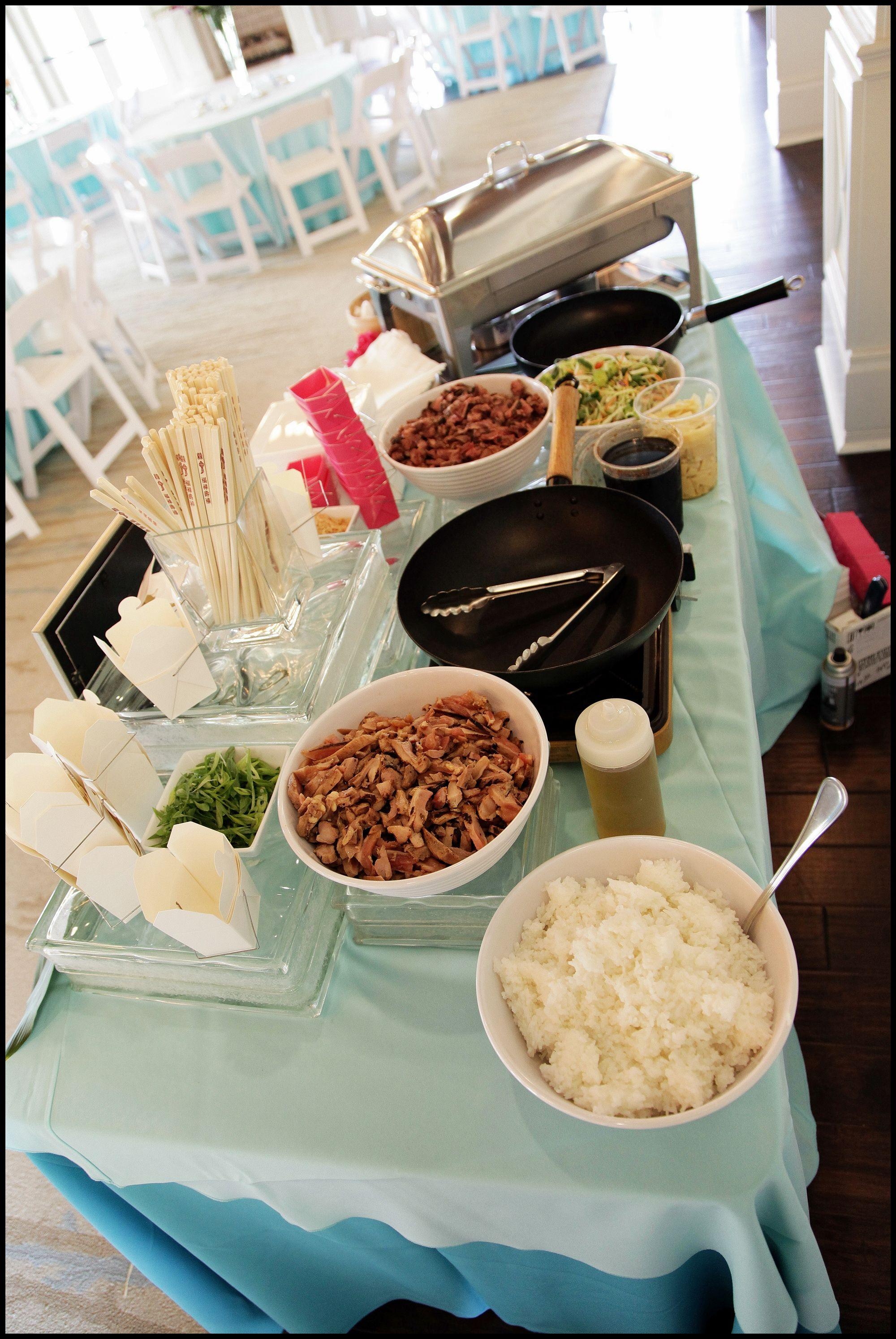 Asian station food displays food