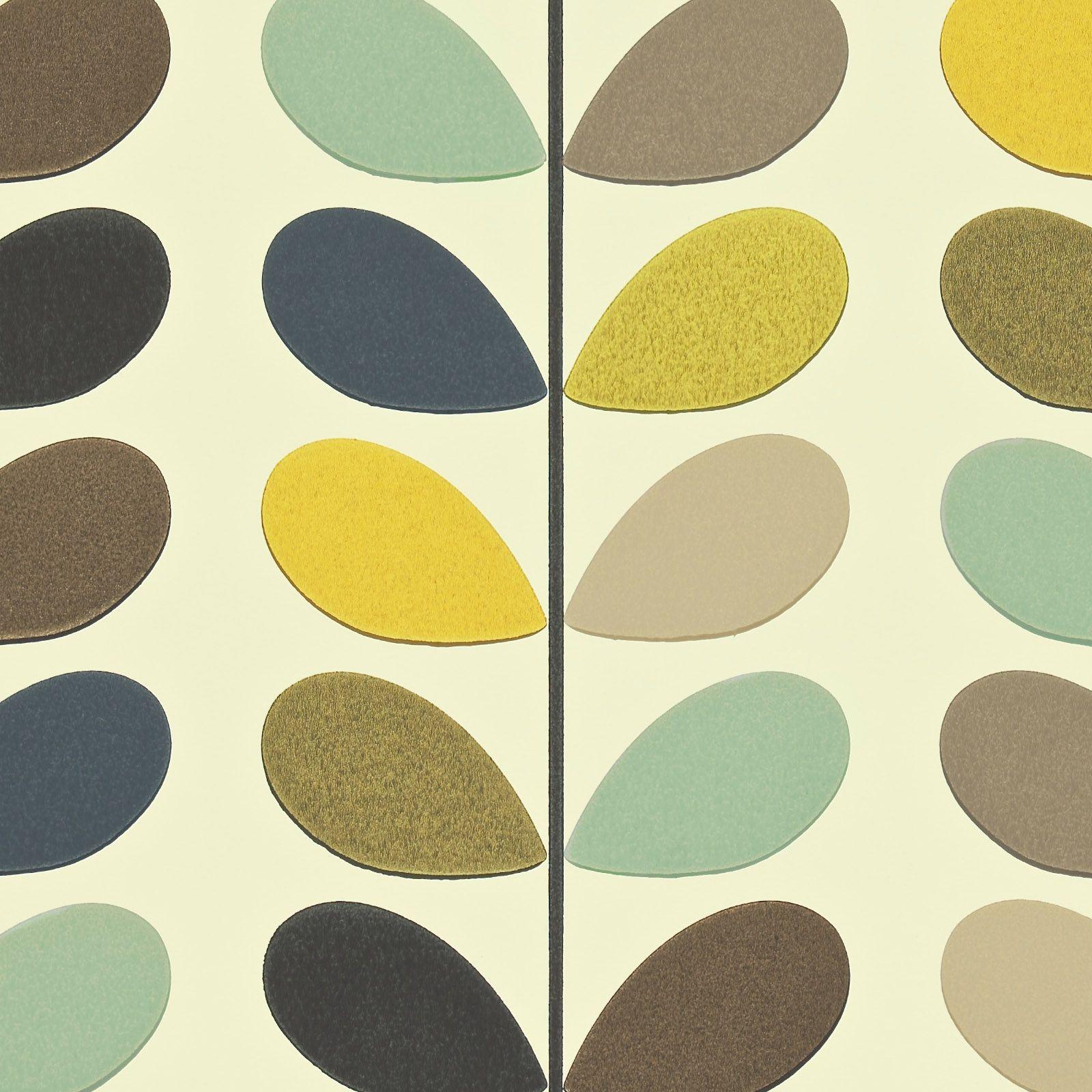 Orla kiely linear stem wallpaper - Orla Kiely Orla Kiely Multi Stem Print Wallpaper Now Available In Two Colourways