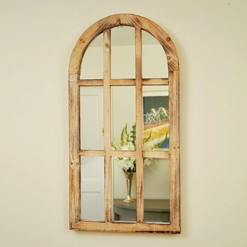 Indoor Decorative Distressed Oval Wooden Arch Wall Window Shabby ...