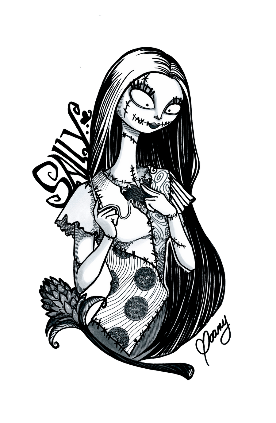 INKTOBER 2016 Nightmare before Christmas Sally by