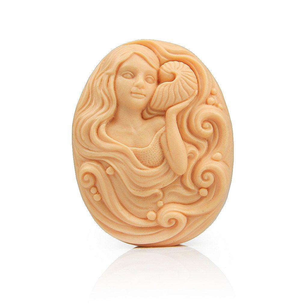Silicone amphitrite soap molds flexible character mold soap mold