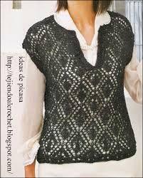 Resultado de imagen de chalecos en tricot