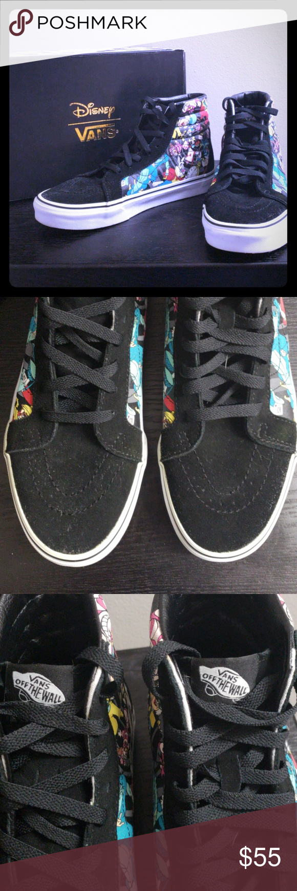 339d8e8c6fdc7f Vans Off The Wall Disney s Alice in Wonderland These are the SK8-Hi style.