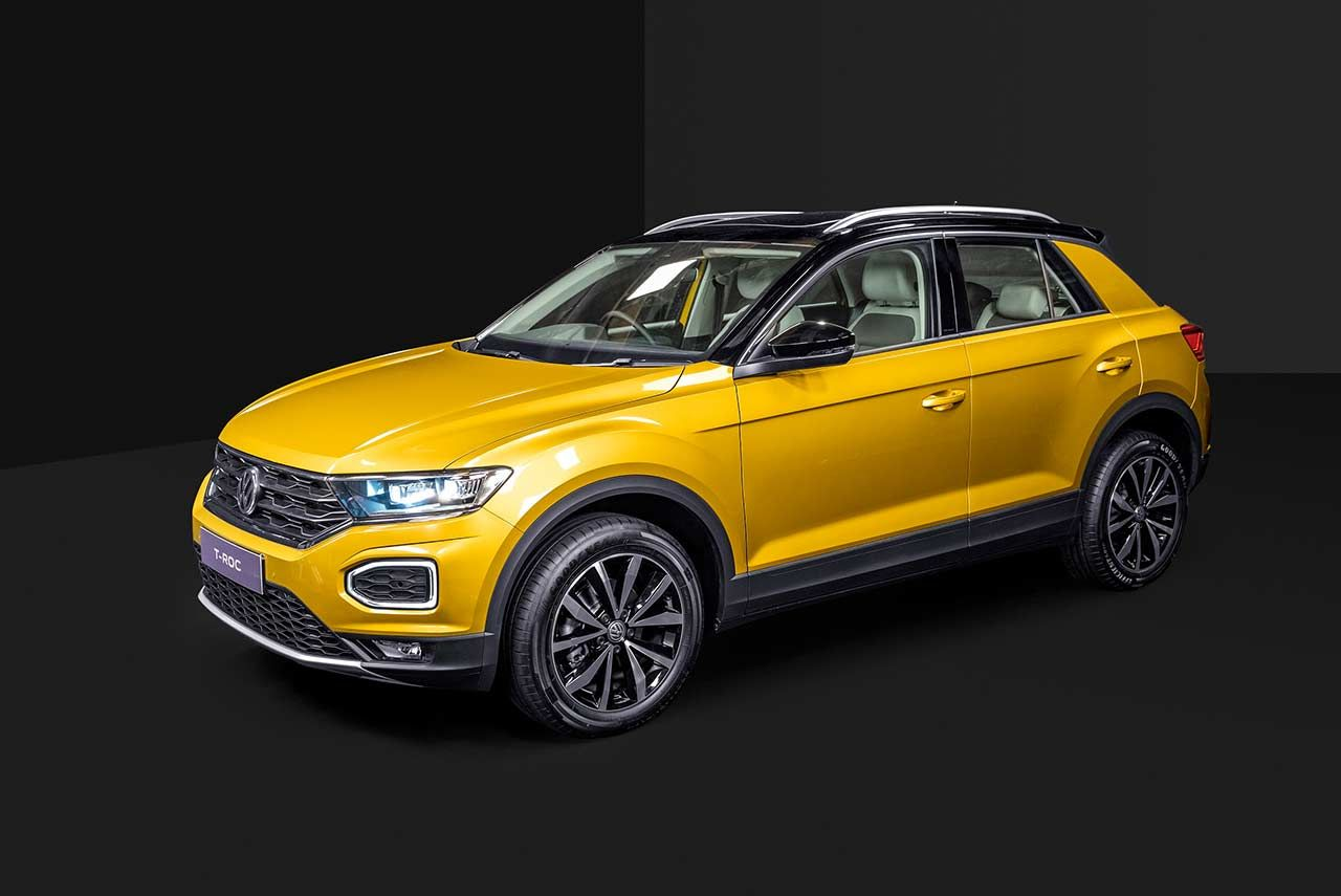 Volkswagen T Roc Launched In India At An Introductory Price Of Inr 19 99 Lakh In 2020 Compact Suv Volkswagen
