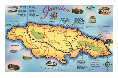 Map of Jamaica Negril Island life and Vacation destinations