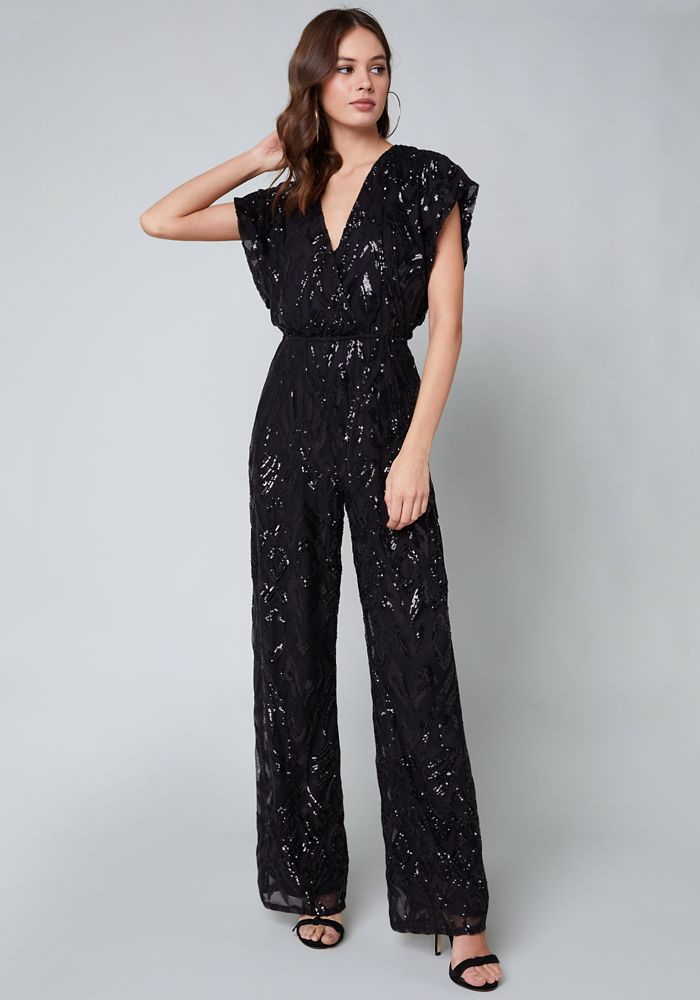 2dacc400271 Bebe Women's Allover Sequin Jumpsuit, XX Small, Black | Products ...