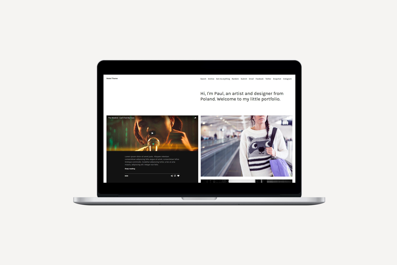 Nobel Tumblr Theme (With images) Web themes, Theme
