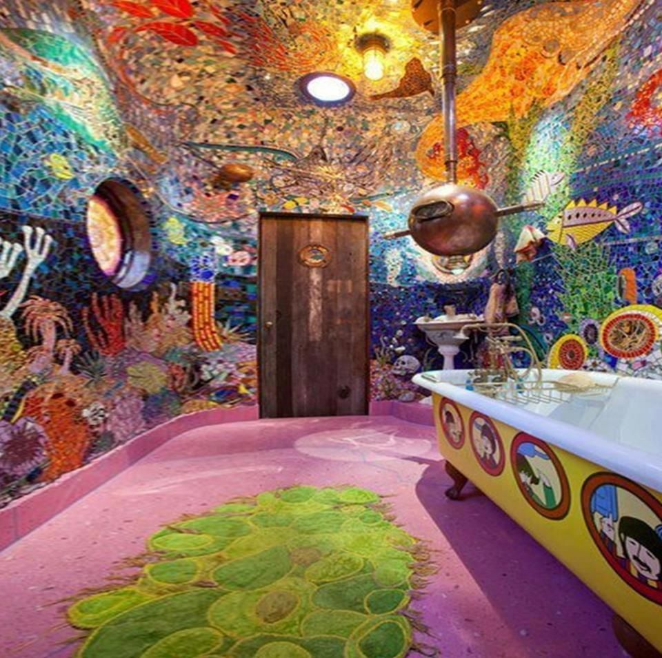 Yellow Submarine Bathroom Wallpaper Home