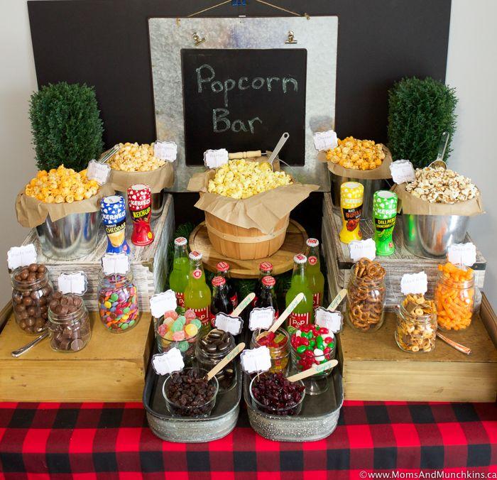 Popcorn Bar Ideas for a Buffet - Moms & Munchkins