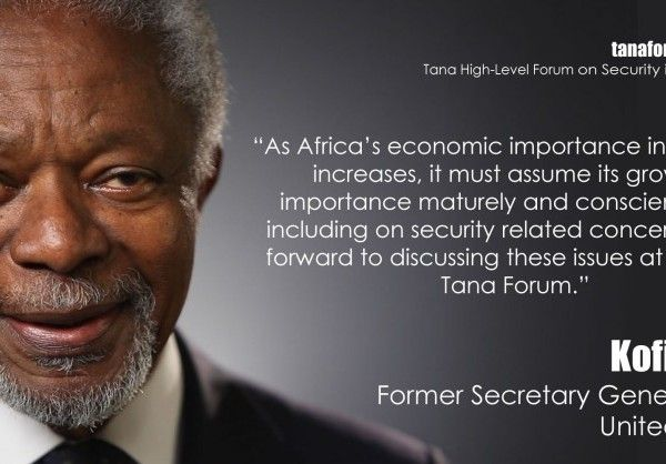 Tana High-Level Forum on Security in Africa / Comunicado de imprensa | Annan confirmado como orador principal do Fórum de Alto Nível do Tana sobre Segurança em África