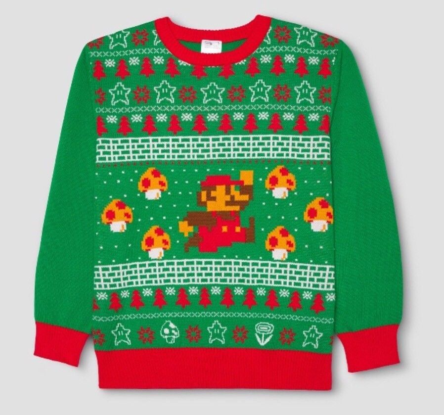 cb996cd3420531 Nintendo SUPER MARIO BROS Ugly Christmas Xmas Sweater  supermariobros   supermario  mario  xmas  christmas  sweater  sega  nintendo  StreetFighter  ...