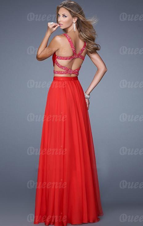 660ae9c43b00 Au Red Formal Dress LFNCE00016. Elegant Two-Piece ...