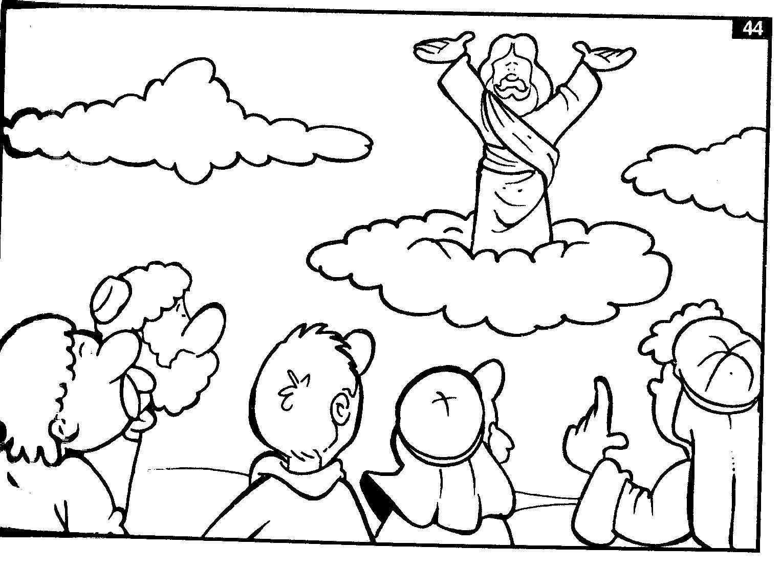 Secuencia De Ilustraciones Para Colorear La Muerte Y Resurrección De