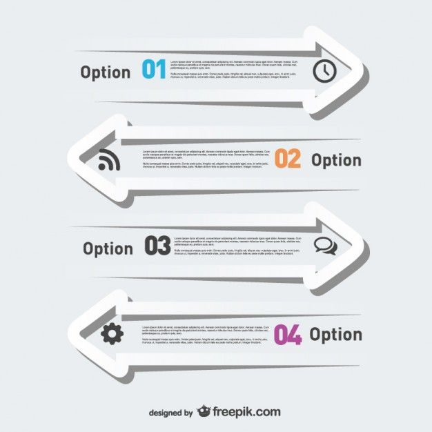 Free infographic arrows modern template