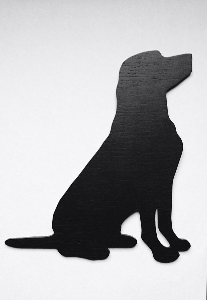 labrador silhouette more