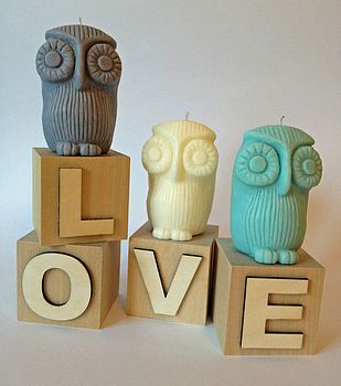 Owl Candle WHaT A HoOt by Hope and Love