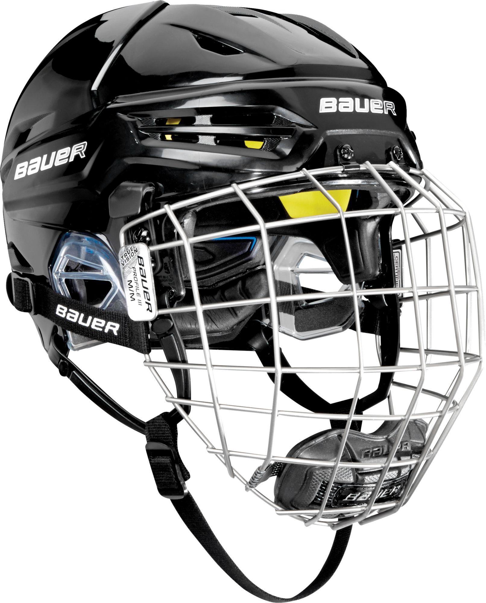 a1ddf0c1998 Bauer Senior RE-AKT 95 Ice Hockey Helmet Combo