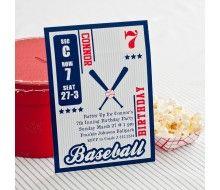 Vintage Baseball Card Birthday Party Printable Invitation