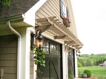 Love These Garage Doors With The Arbor Above Them.