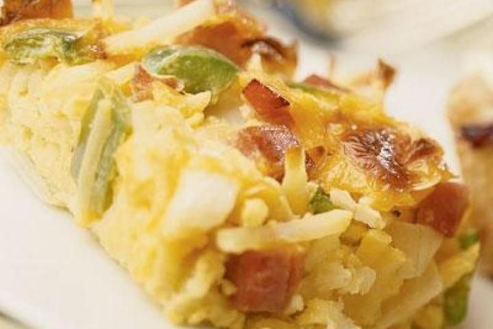 Weekend Baked Hash Browns (Eggs&Bacon)