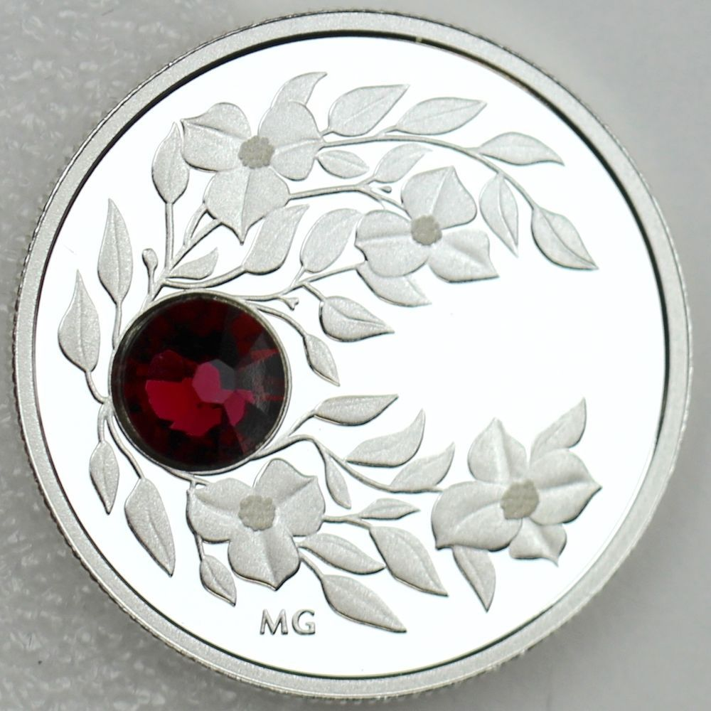Mother of Pearl 1 oz 9999 Fine Silver Canada Proof 2017 $20 Pearl Flower