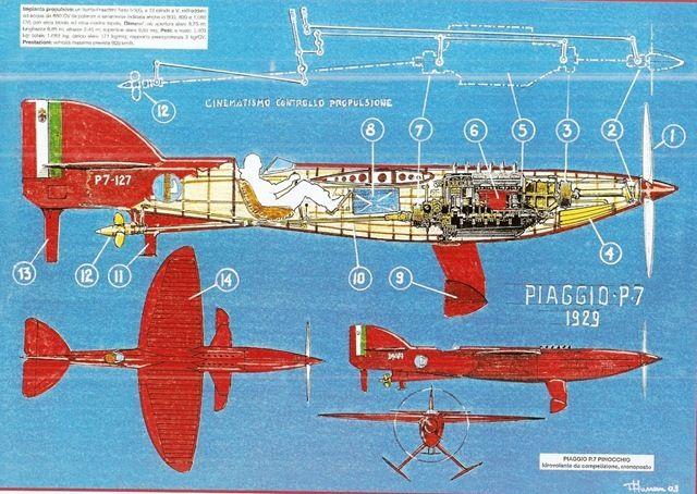 piaggio p.7 black and white - list of seaplanes and amphibious