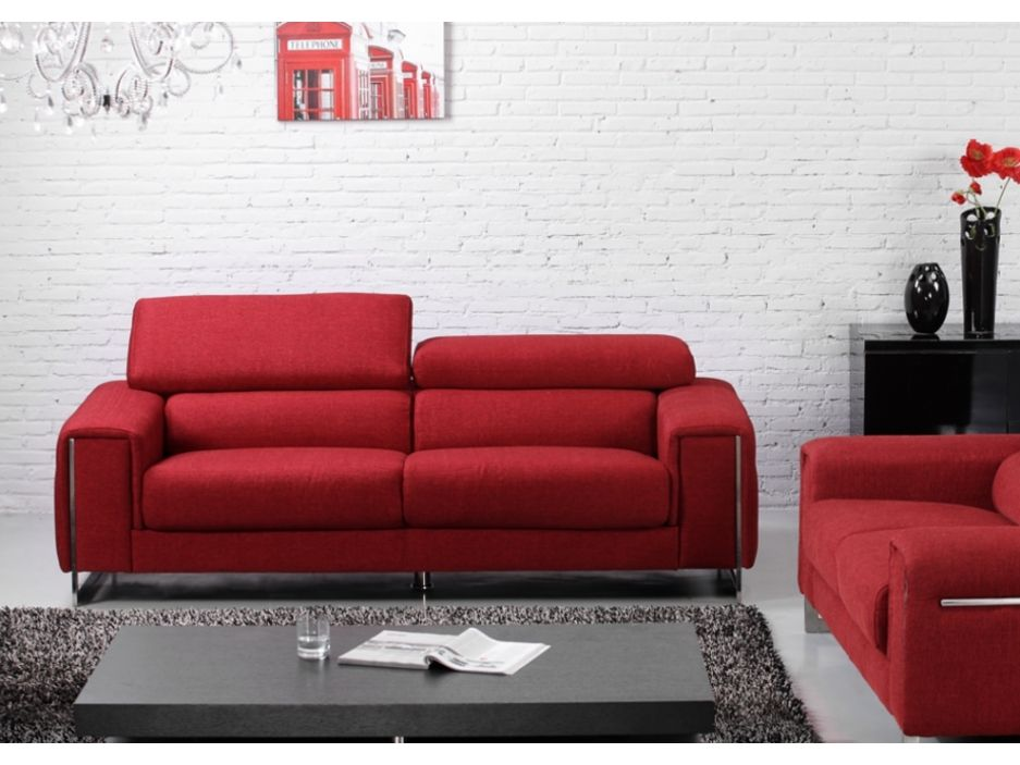 canap rouge 3 places x with canap rouge 3 places trendy canape cuir rouge places next club. Black Bedroom Furniture Sets. Home Design Ideas