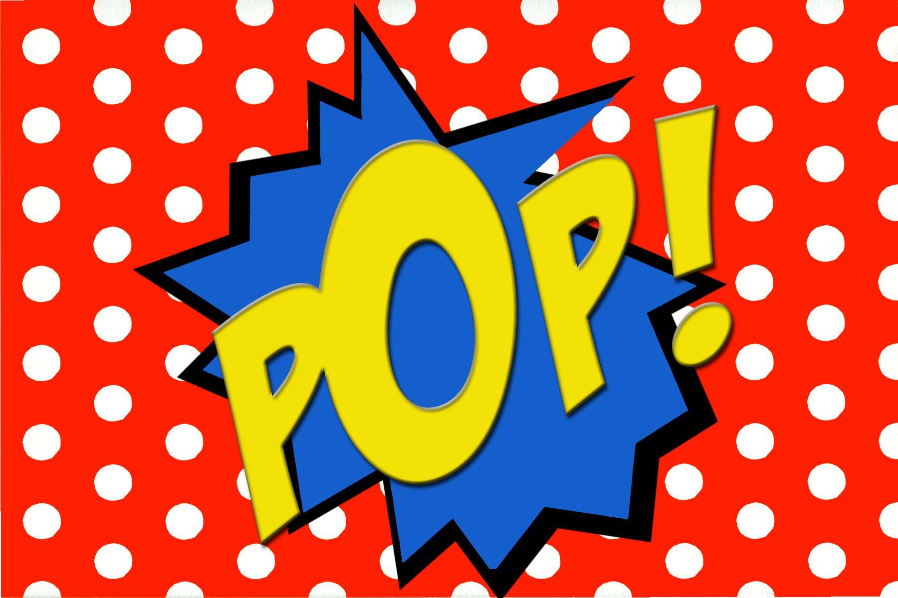 free printable pop  comic book word