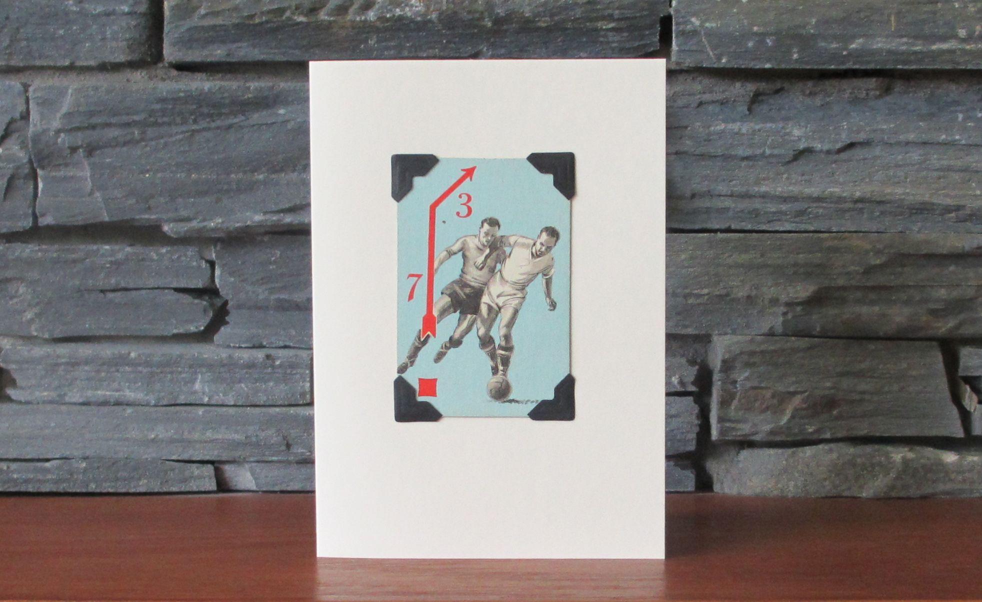 Fabulous handmade greetings card with an original football playing fabulous handmade greetings card with an original football playing card buy now at kristyandbryce Choice Image