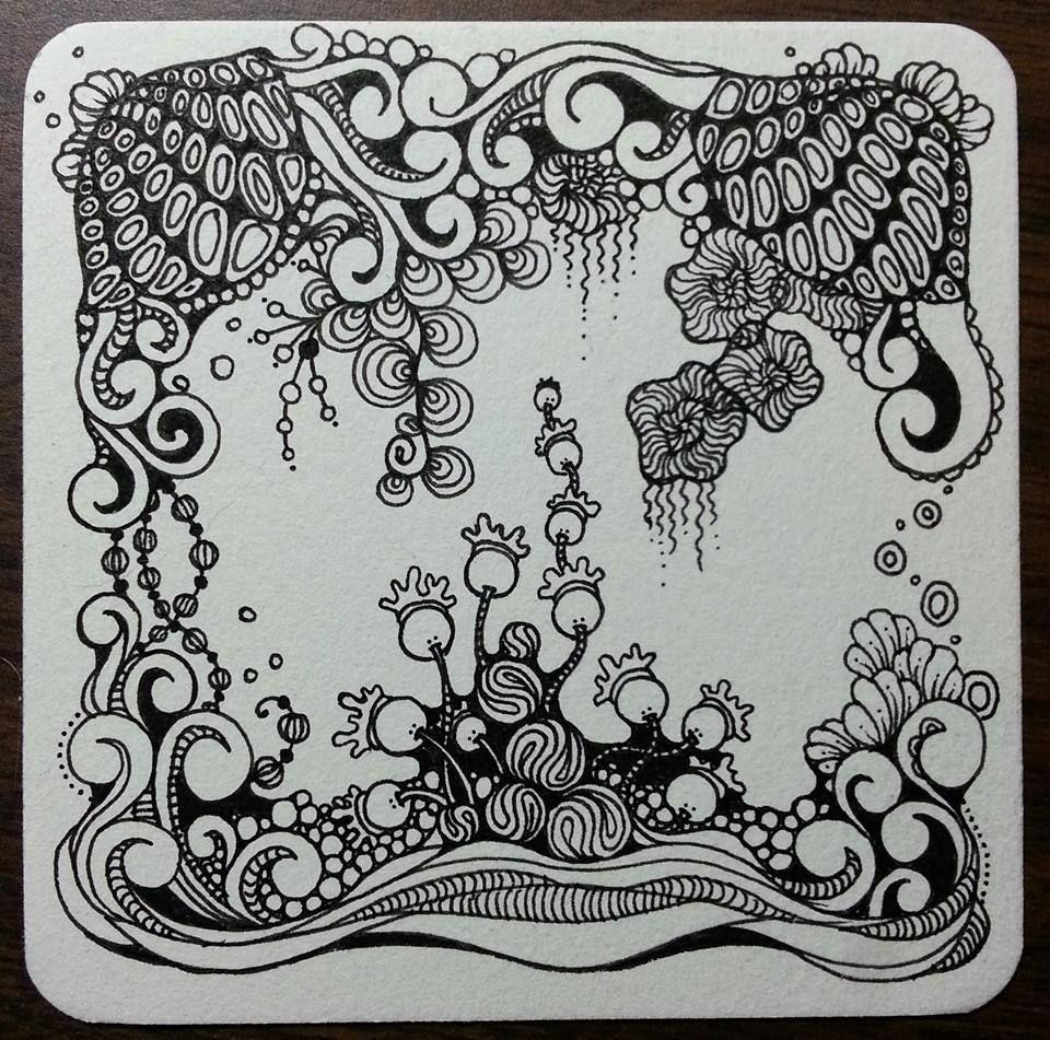 2014 Sandy Hunter Www Tanglebucket Blogspot Com Www Facebook Com Tanglebucket Zentangle Muster Zentangle Zeichnungen Kunst Mit Tinte