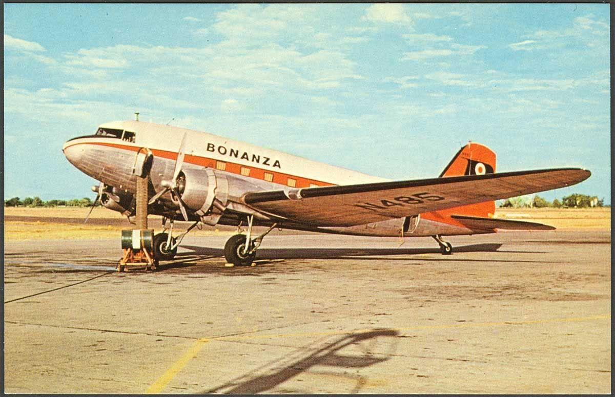 Bonanza Airlines DC3 Air carrier, Vintage aircraft