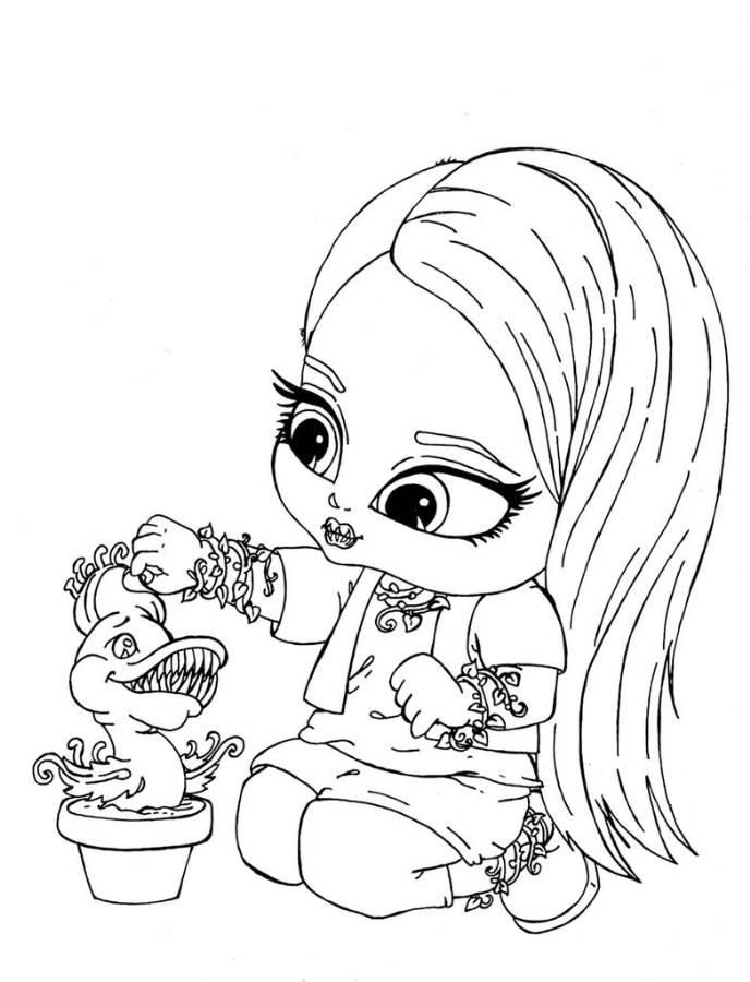 baby monster high coloring pages # 1