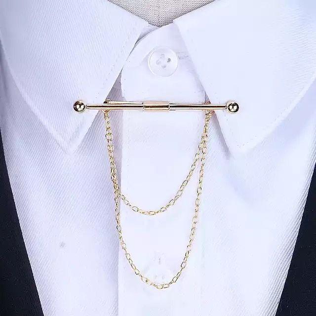 Blue Stones Fashion Gold Chain Collar Brooch Men Suit Lapel Pin Arrow Brooches Tassel Mens Accessories Wedding Brooch Shirt for Women