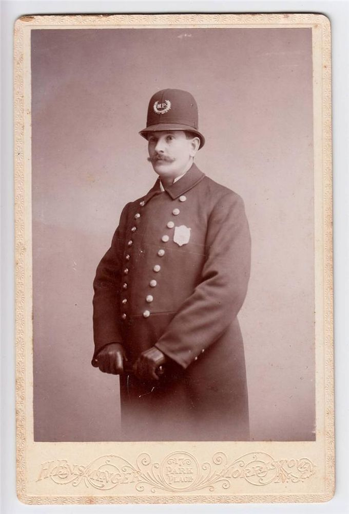 Antique 1890s police officer cabinet card photo by ensminger antique 1890s police officer cabinet card photo by ensminger morristown nj this photo was taken by henry ernsminger who was in business from 1894 1922 in reheart Images