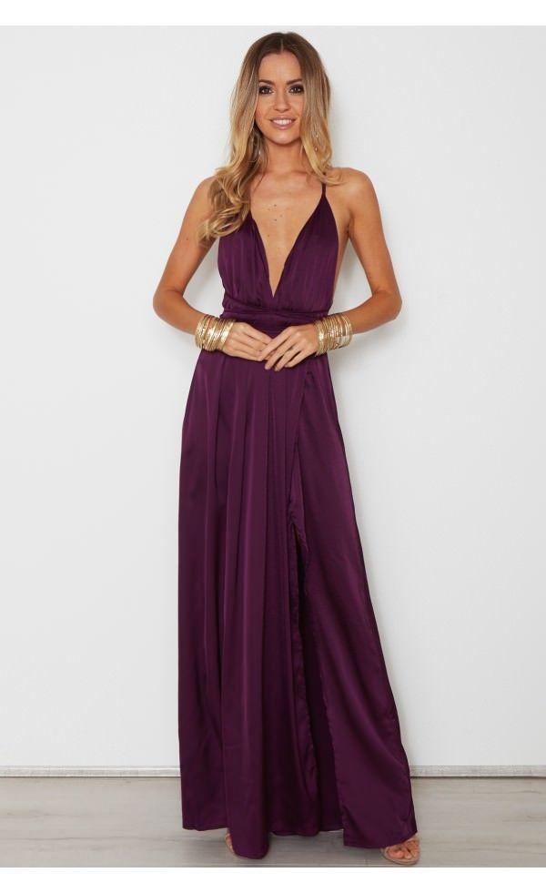 e876c455171 Akela Maxi Dress Plum - Dresses - Clothing