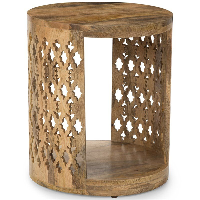 Steve Silver Brinley 18  Round Accent End Table in Natural is part of Silver Home Accents Guest Rooms - Lowest price online on all Steve Silver Brinley 18  Round Accent End Table in Natural  BR180E