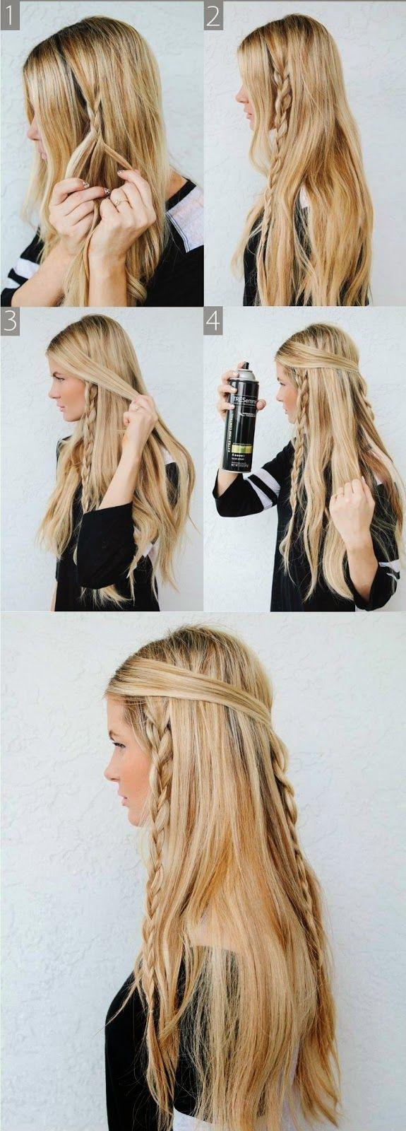Best Braid for Long Hair Easy braided hairstyles Hippie braids