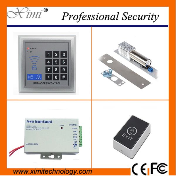 F004 Card Access Controller With Exit Button Power Supply And Electric Lock Door Lock Without Software Sing Access Control Access Control System Proximity Card