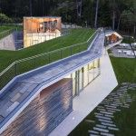 sustainable pool pavilion architecture Design by Peter Gluck and Partners Architects
