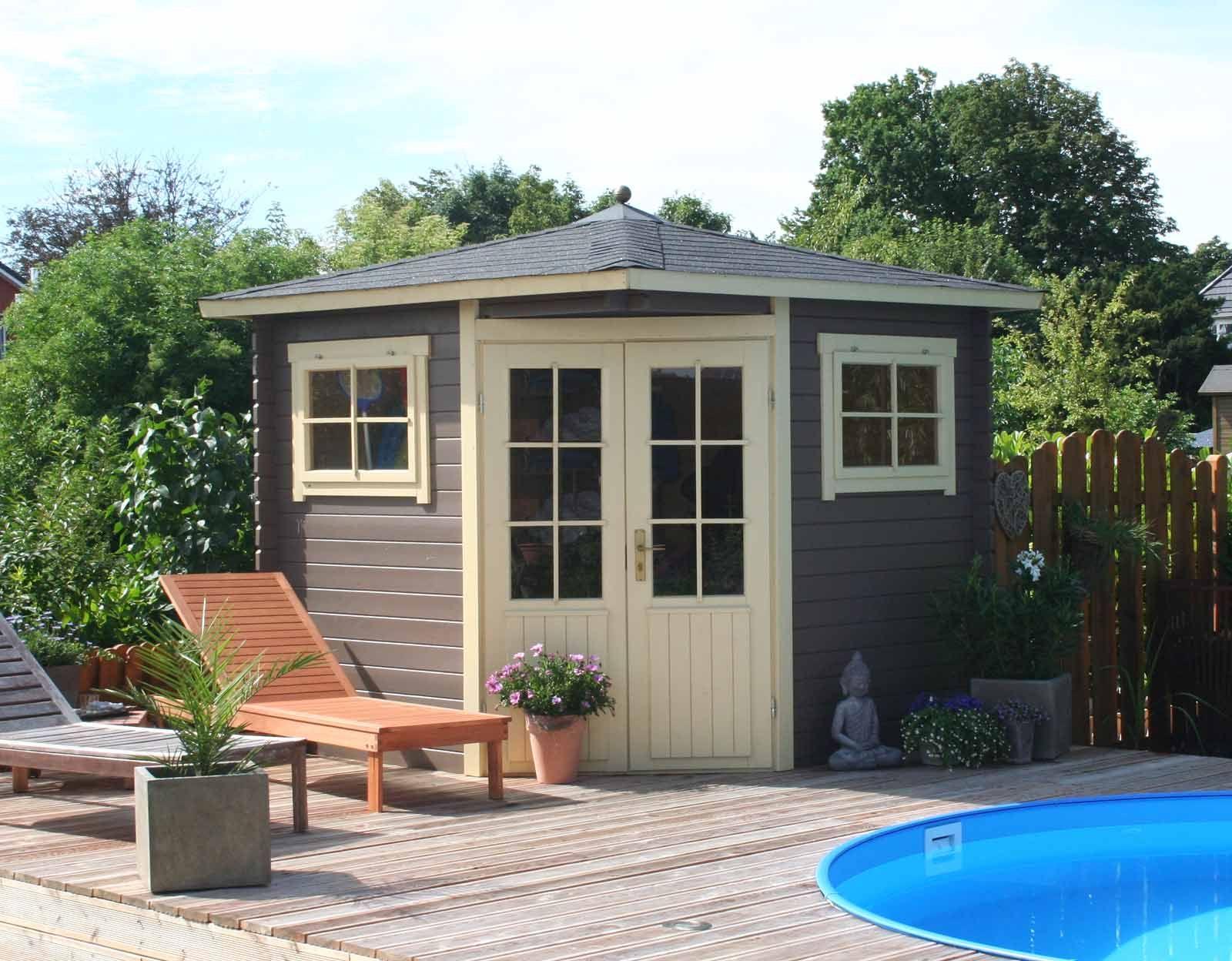 Eck gartenhaus modell sunny b flachdach gartenhäuser und