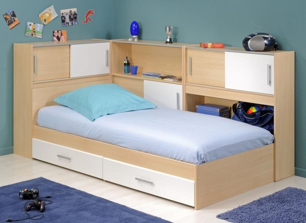 Awesome Single Bed With Storage Home Design Bed Frame