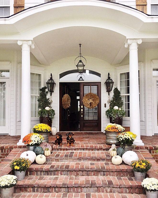 Brick porch steps #frontporchideascurbappeal