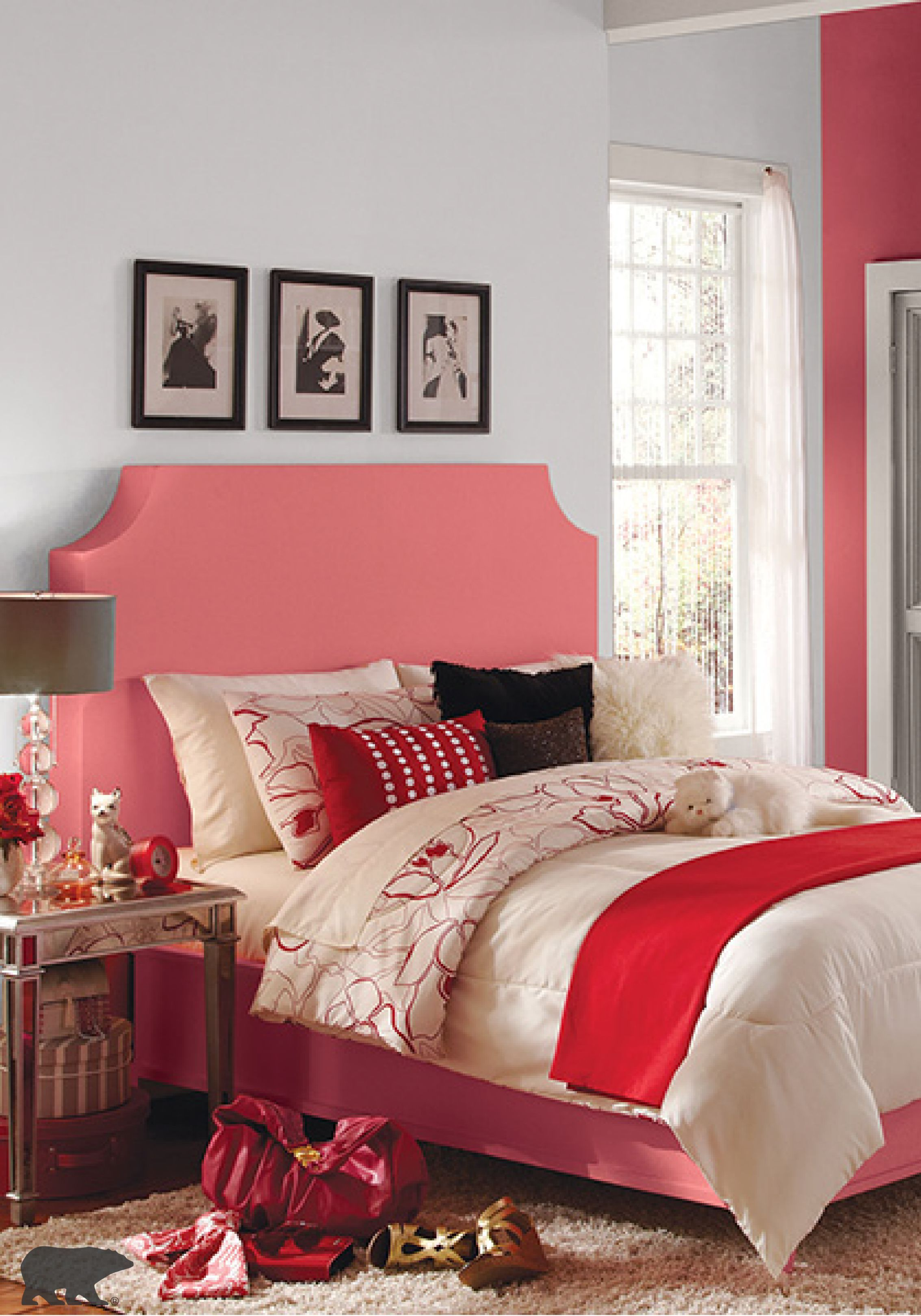 Florida Pink paint colors, Accent wall bedroom, Room colors